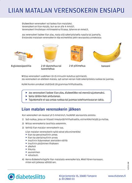 Diabeetikon ensiapu on sokeri - Diabetesliitto